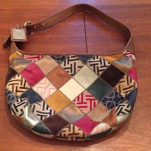 TIGNANELLO Hobo Leather Bag Purse Patchwork